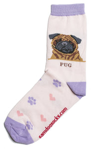 Pug Fawn Dog Socks - samnoveltysocks.com