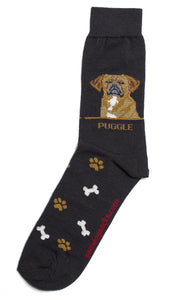 Puggle Dog Socks Mens - samnoveltysocks.com