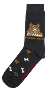 Rough Collie Dog Socks Mens - samnoveltysocks.com