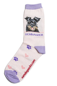 Schnauzer Black Dog Socks - samnoveltysocks.com