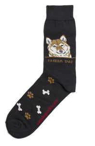 Shiba Inu Dog Socks Mens - samnoveltysocks.com