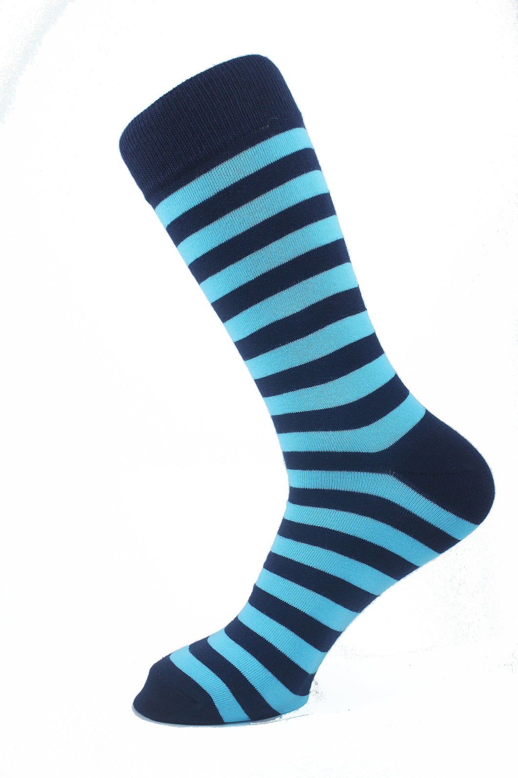 Striped Men Socks Blue - samnoveltysocks.com