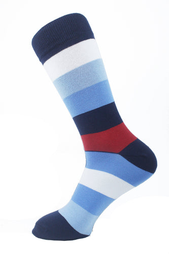 Striped Men Socks Colorful - samnoveltysocks.com