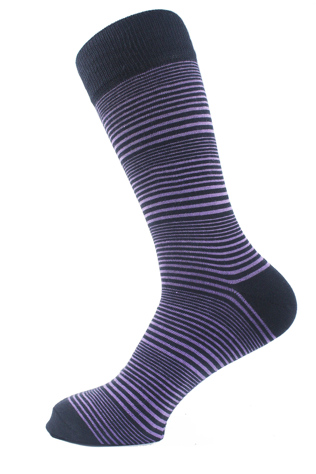 Striped Men Socks Purple - samnoveltysocks.com