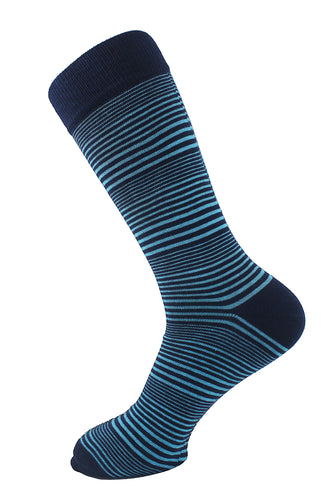 Striped Men Socks Turquoise - samnoveltysocks.com
