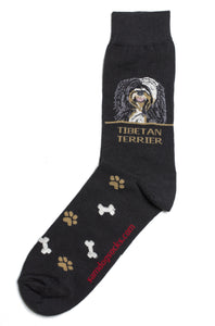 Tibetan Terrier Dog Socks Mens - samnoveltysocks.com