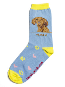 Vizsla Dog Socks - samnoveltysocks.com