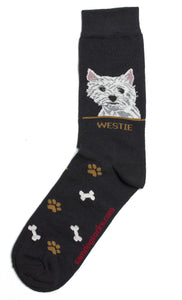 "Westie ""West Highlander Terrier"" Socks Mens - samnoveltysocks.com"