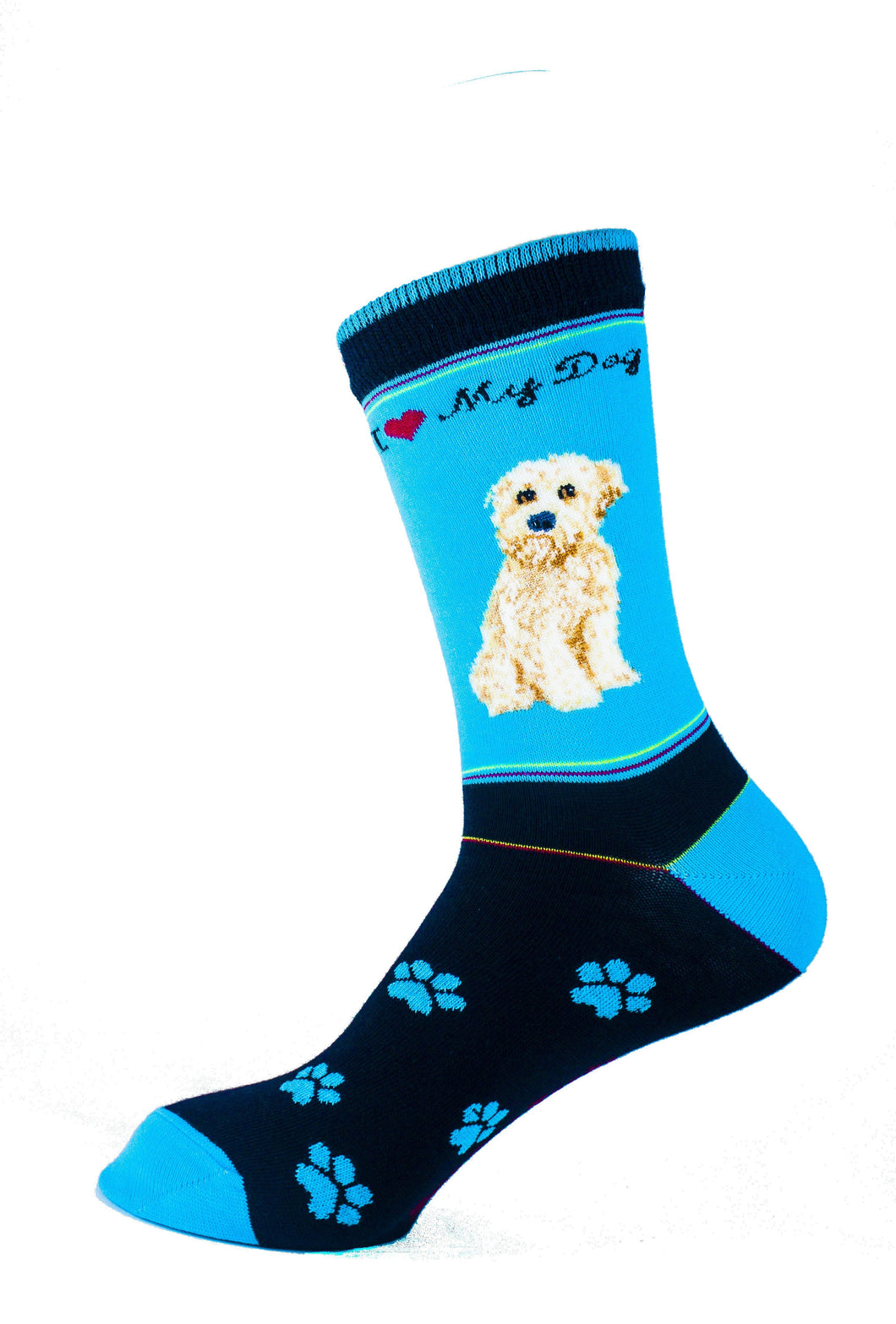 Wheaten Dog Socks Signature - samnoveltysocks.com