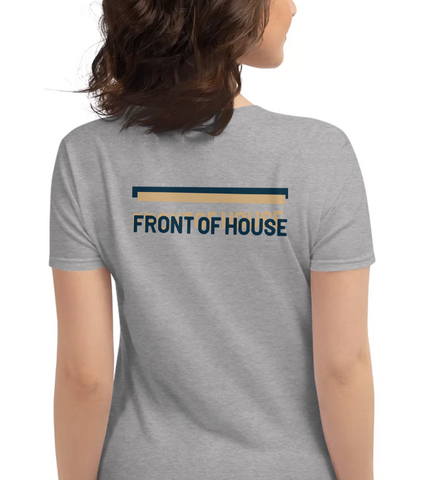 FRONT OF HOUSE | Blue & Tan - Hospitaliteeshirts