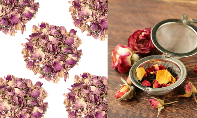 Organic loose leaf rose tea