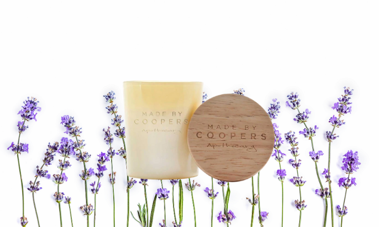 Lavender calming soy wax candle