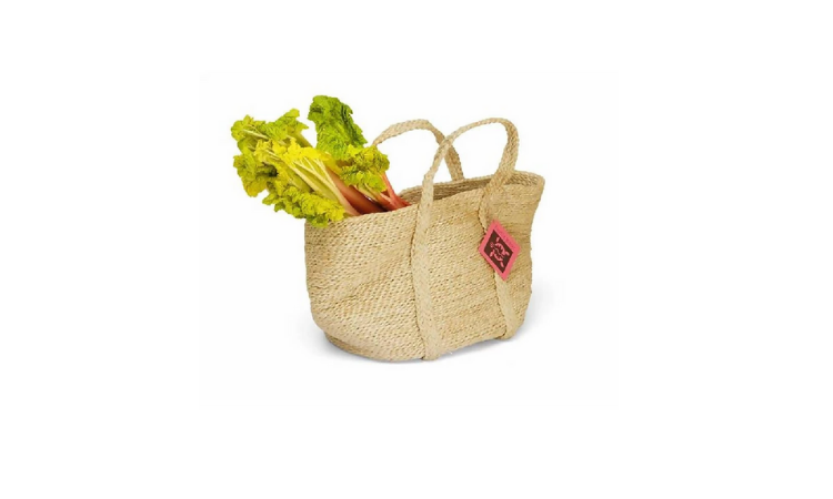 Handmade organic jute reusable food bag