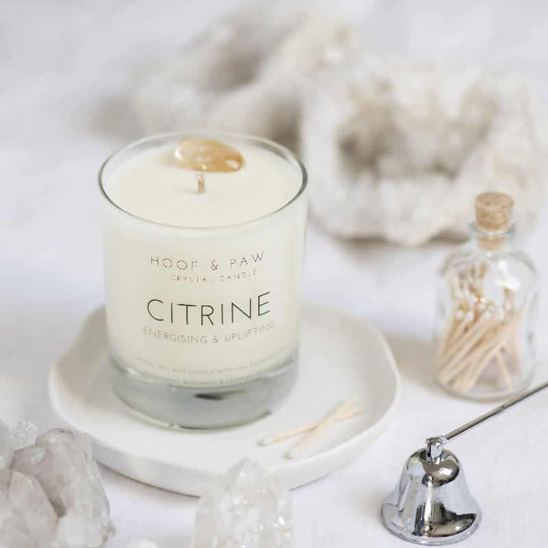 Citrine Candle with Essential Oils