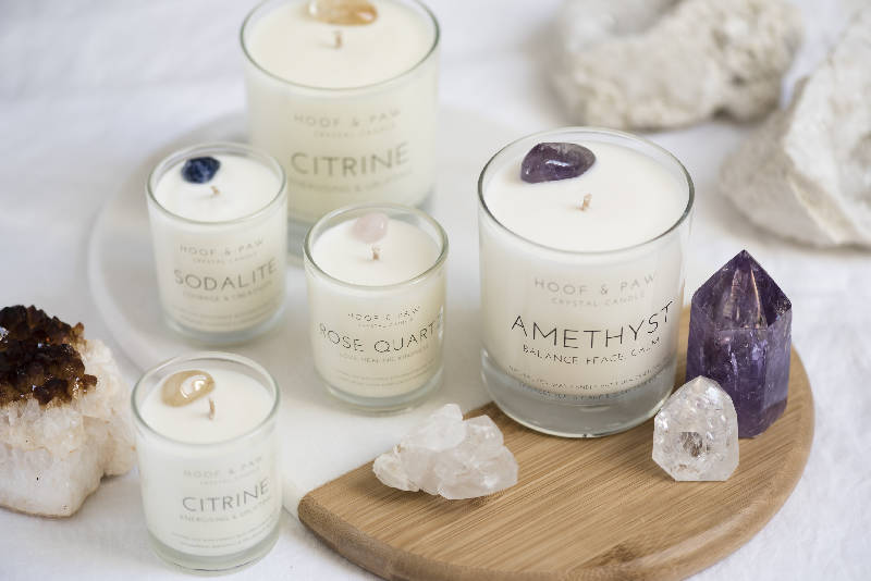 Amethyst Travel Candle with Essential Oils