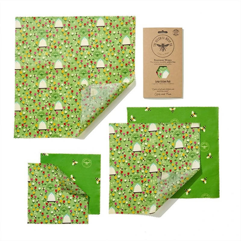 Floral Beeswax Food Wraps - Large Kitchen Pack