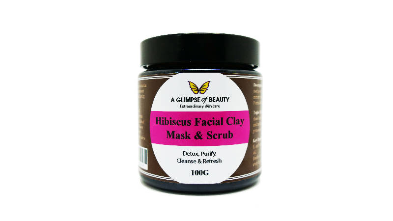 Hibiscus Facial clay mask and scrub