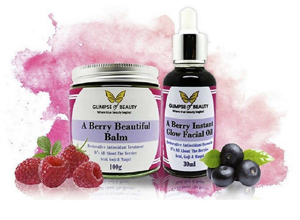 Berry Beautiful Balm and Berry instant Facial Oil Combo
