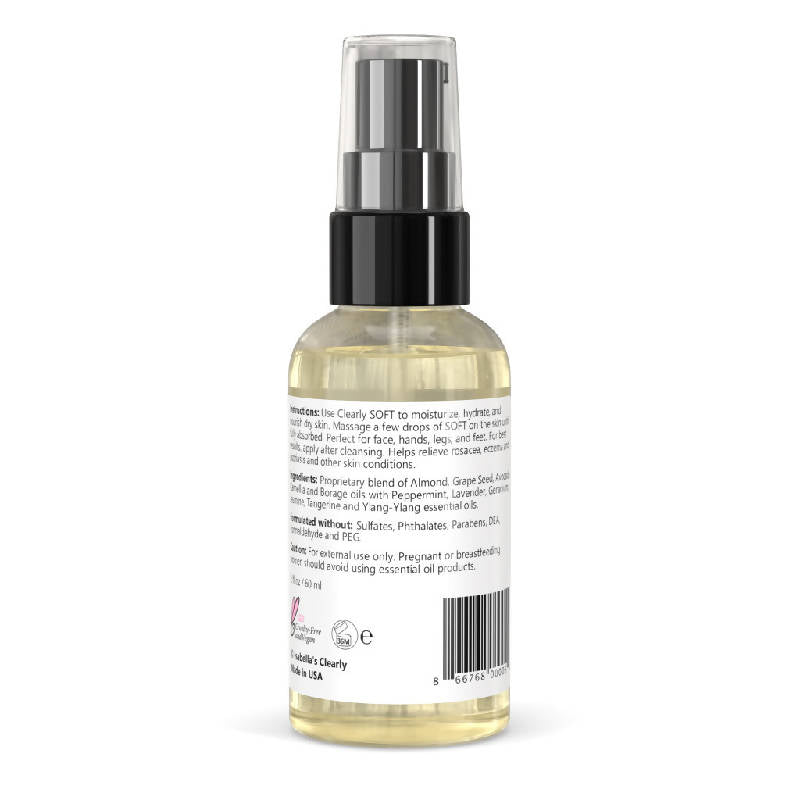 Clearly SOFT, Natural Face and Body Oil Moisturizer for All Skin Types