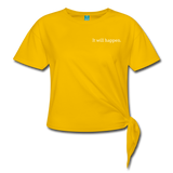 Women's Knotted T-Shirt - sun yellow