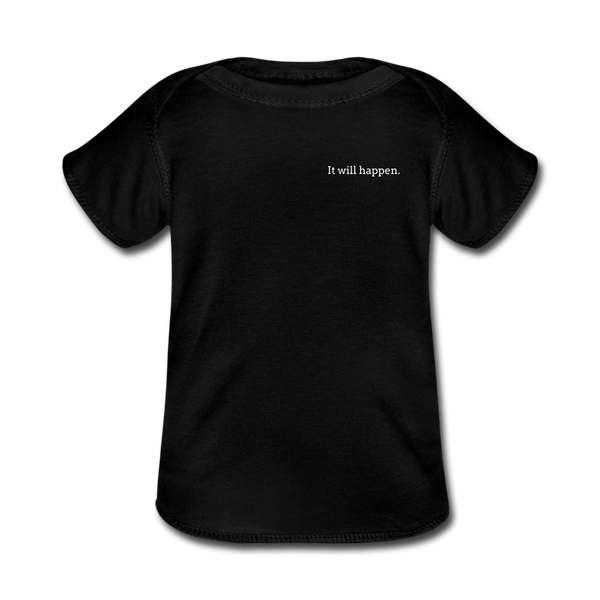 Baby Lap Shoulder T-Shirt - black