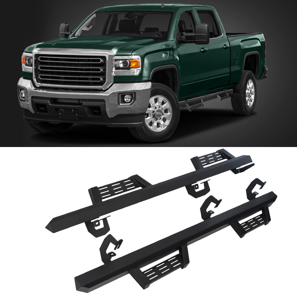 A&K Nerf Bars for Chevy Silverado GMC Sierra 2500 3500 Crew Cab 2011-2016
