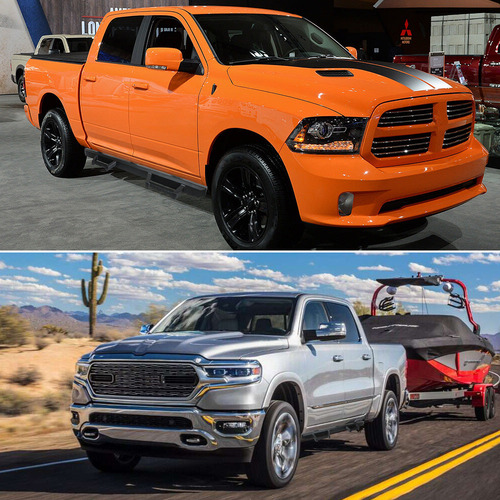A&K Nerf Bars for Dodge Ram 1500 Crew Cab 2019-2020