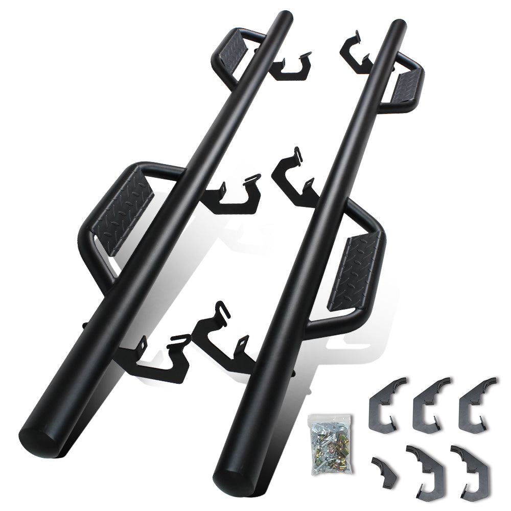 A&K Nerf Bars for Chevy Silverado GMC Sierra Double Cab Extended Cab 2007-2018
