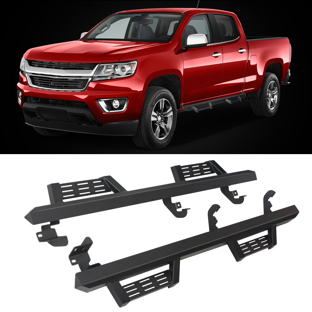 A&K Nerf Bars for Chevy Colorado Crew Cab, GMC Canyon Crew Cab 2015-2020