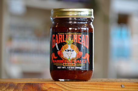 6-Pack Garlic Head SPICY Barbecue Sauce