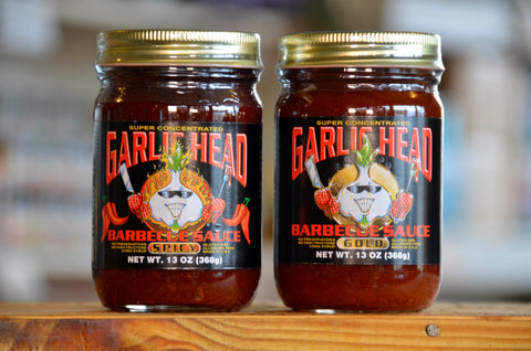 2-Pack Garlic Head GOLD and SPICY Barbecue Sauce