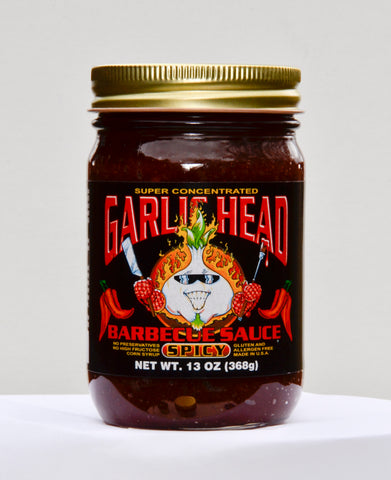 Image of Combo 6-Pack of Garlic Head GOLD and SPICY Barbecue Sauce