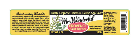 Mrs. Wonderful PROVENCE Salt Blend