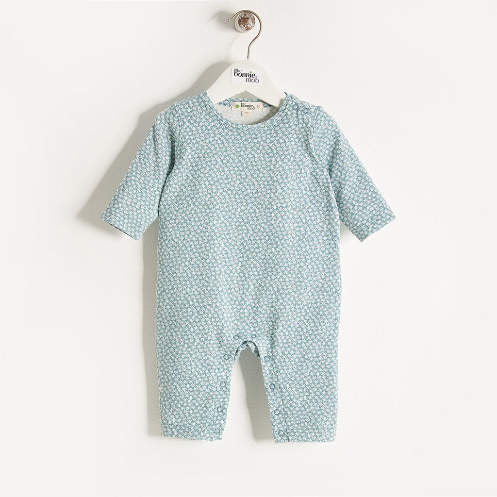 AKIKO PLAIN - Baby Boy Hash Tag Print Playsuit - Blue