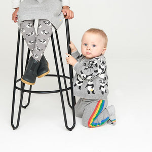 BLUES - Baby Side Stripe Knitted Trouser - GREY