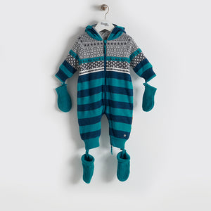 BBA16102 - Baby - Playsuit - TEAL