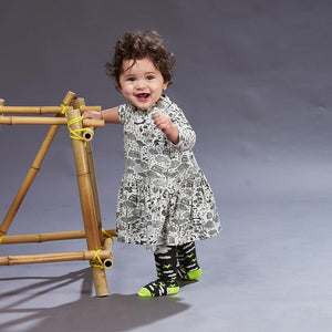 KALLI - Unisex Baby Star & Moon Tights - Dark Grey