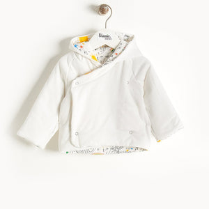 BIFFY - Reversible Padded Baby Jacket With Hood - Baby Unisex - Rainbow print