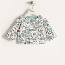 将图片加载到图库查看器,BLISS - Baby Boy Panda Print Padded Jacket - Blue