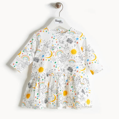 BOOGIE - Printed Full Frill Dress - Baby Girl - Rainbow print