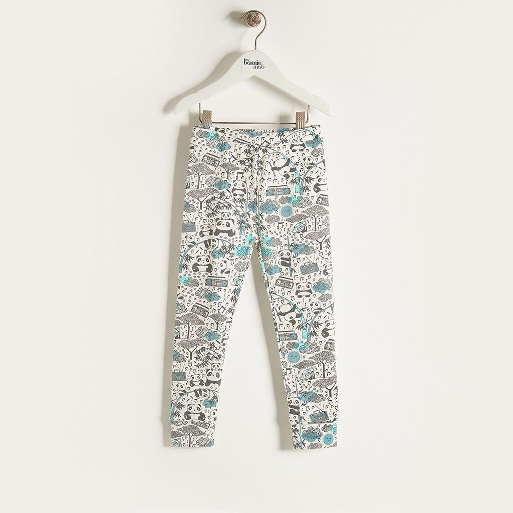 BUB - Boys Panda Print Legging - Blue