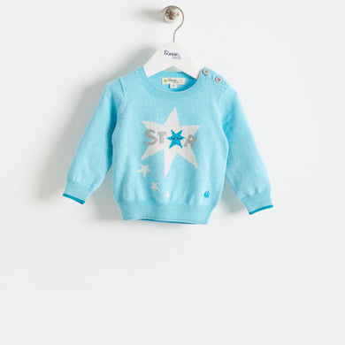 COMET - BABY - SWEATER - PALE BLUE