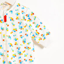 將圖片載入圖庫檢視器 DARNELL - Zip Front Baby Playsuit In All Over Print - Multicolour