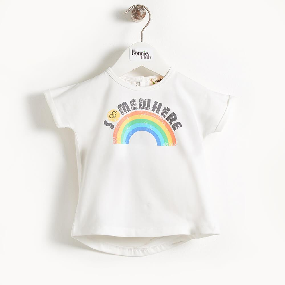 DEACON - Kimono Shape Baby T Shirt - Somewhere Over The Rainbow