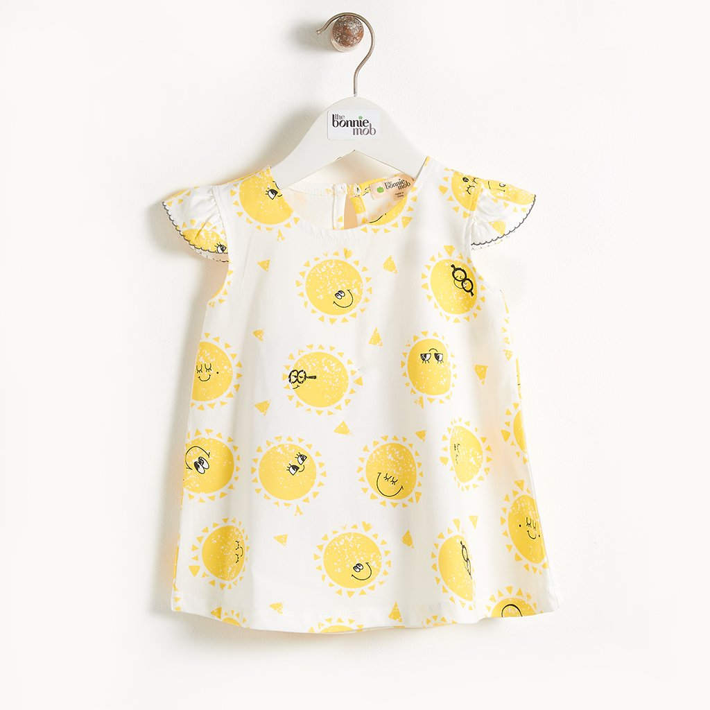 DELAUNAY - Printed Sun Girls Dress - Sunshine Print