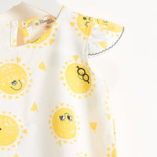 将图片加载到图库查看器,DELAUNAY - Printed Sun Girls Dress - Sunshine Print