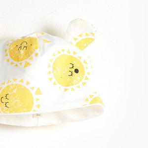DIOR - Printed Beanie Hat With Ears - Sunshine Print