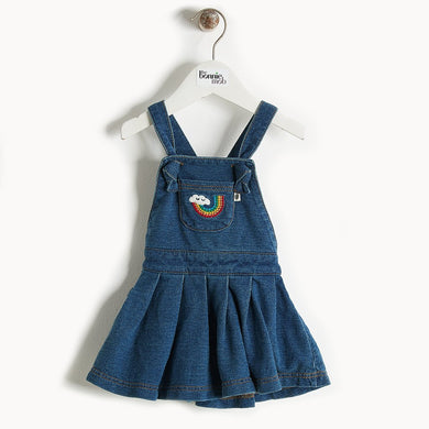 DIVA - Denim Terry Pinafore Dress - Baby Girl - Denim