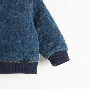 DRE - Denim Terry Bomber Jacket - Baby Unisex - Quilted star stitch