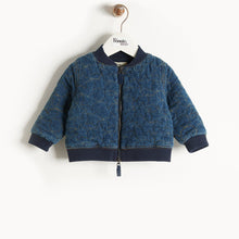 將圖片載入圖庫檢視器 DRE - Denim Terry Bomber Jacket - Baby Unisex - Quilted star stitch